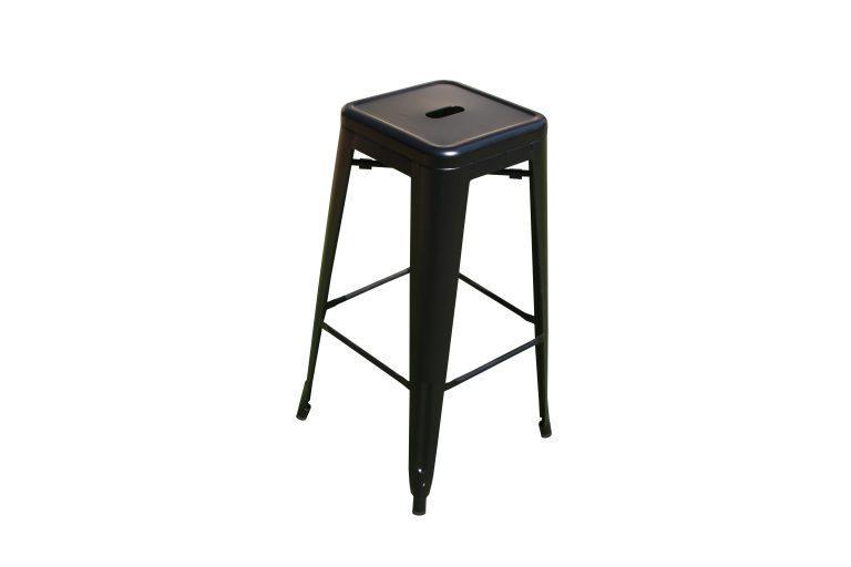 כסא בר מתכתי שחור - ציוד לאירועים להשכרה