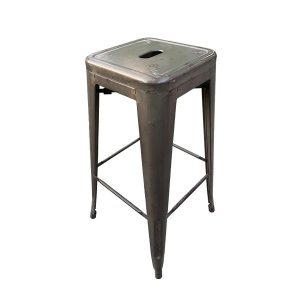 כסא בר מתכת אפור וינטג_ - ציוד לאירועים