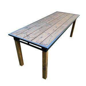 שולחן אבירים עץ מלא במבחר גבהים - השכרת ציוד לאירועים