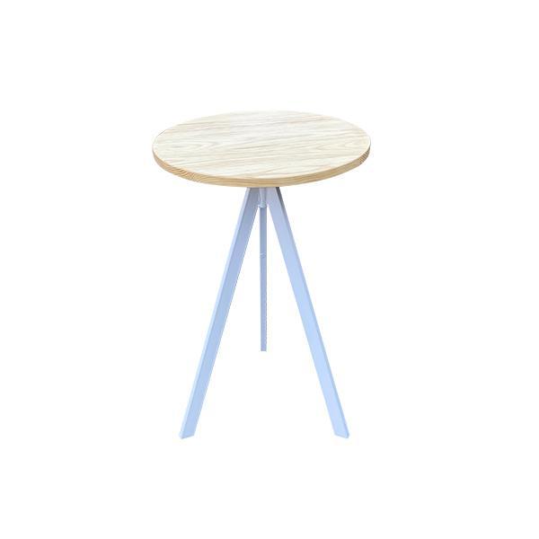 שולחן בר 3 רגליים - טופ טבעי - השכרת ציוד לאירועים