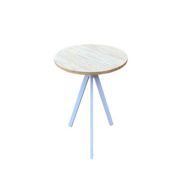 שולחן קפה 3 רגליים - טופ טבעי השכרת ציוד לאירועים