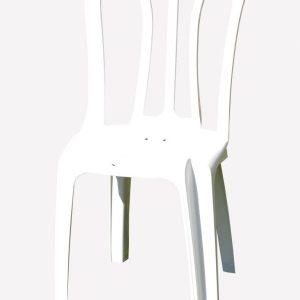 כיסא פלסטיק לבן - ציוד לאירועים להשכרה