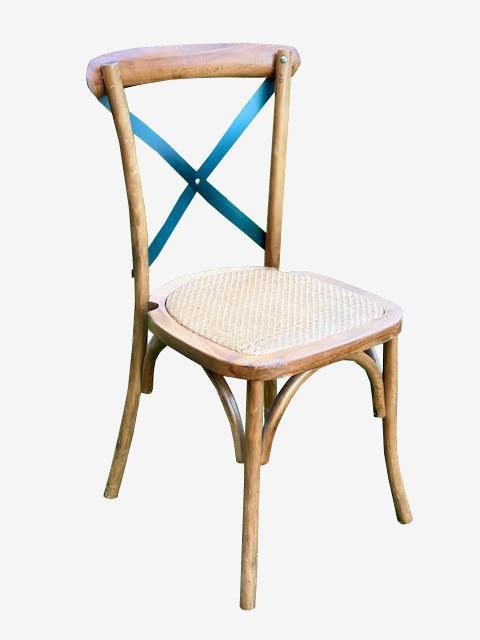 כסא דגם קרוס – איקס שחור - ציוד לאירועים להשכרה