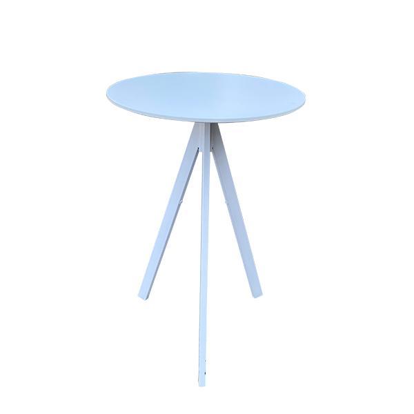 שולחן בר עץ לבן דגם 4 רגליים קארמה השכרת ציוד
